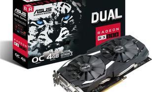 Asus Radeon Dual RX 580 OC 4GB GDDR5 (256 bit), DVI-D, 2xHDMI, 2xDisplayPort, BOX (DUAL-RX580-O4G)