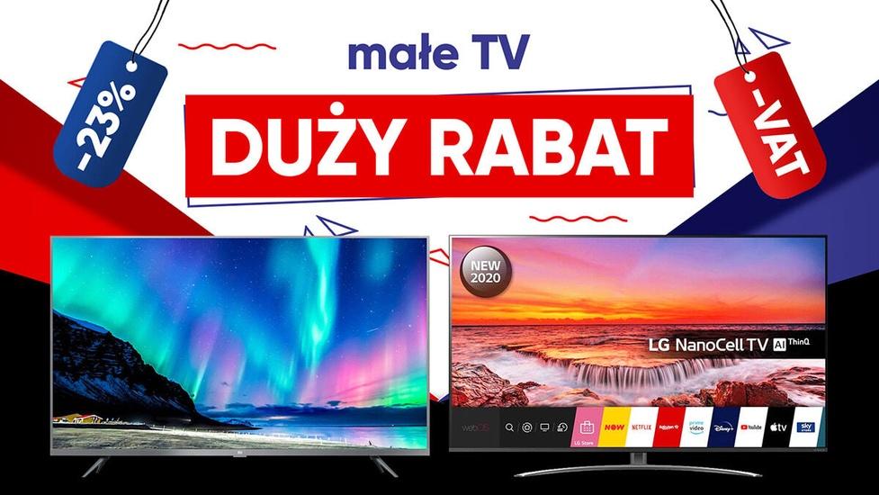 Małe telewizory tańsze o VAT! Najlepsze okazje na LED LCD