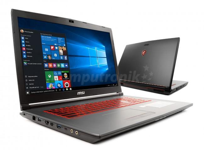 MSI GV72 8RE-053XPL - 240GB M.2 + 1TB HDD   Windows 10