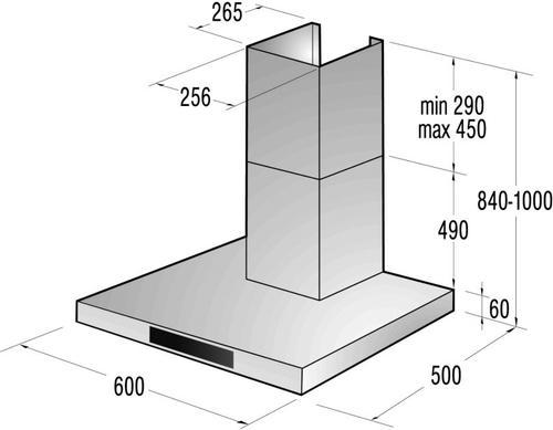 Gorenje Okap kominowy DT6545AXS