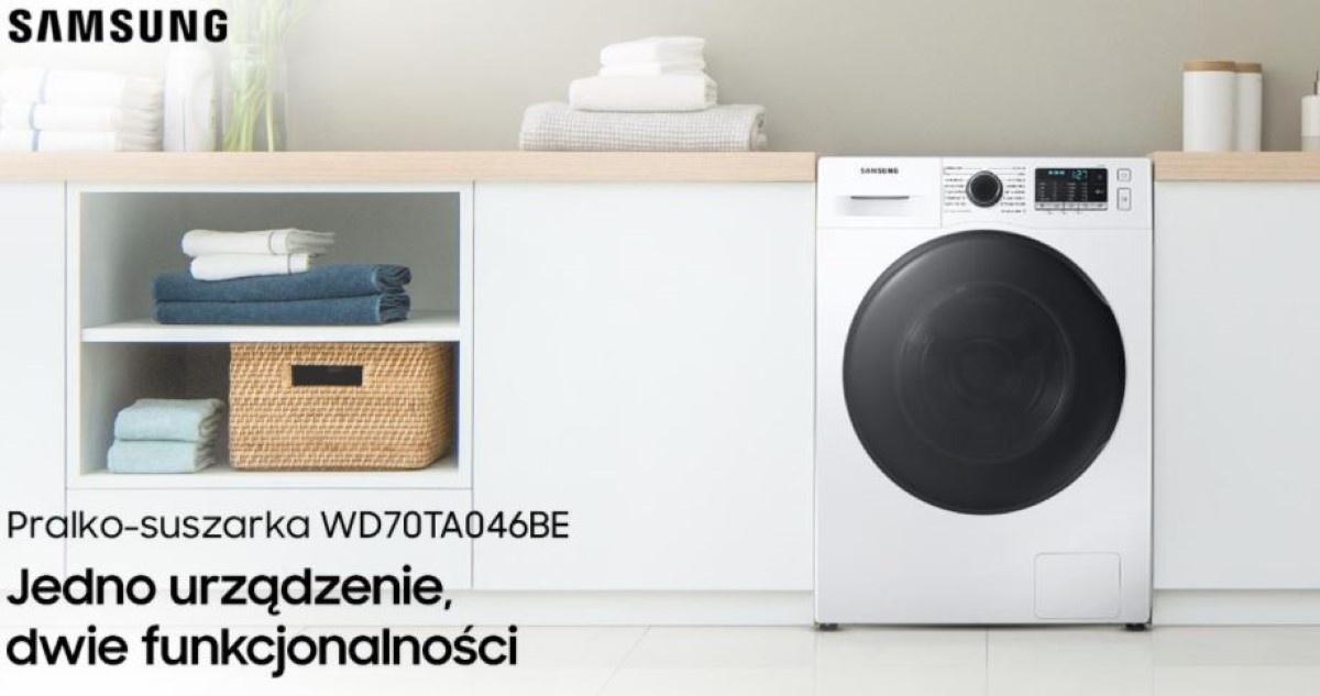 Samsung WD70TA046BE w łazience