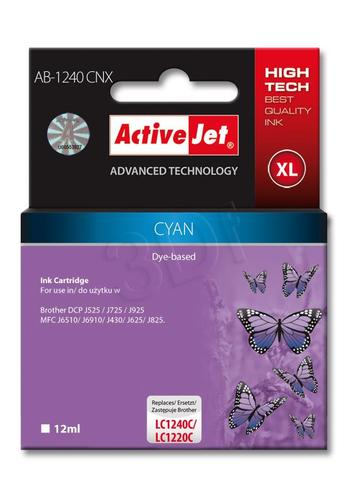 ActiveJet AB-1240CNX tusz cyan do drukarki Brother (zamiennik Brother LC1240C) Supreme