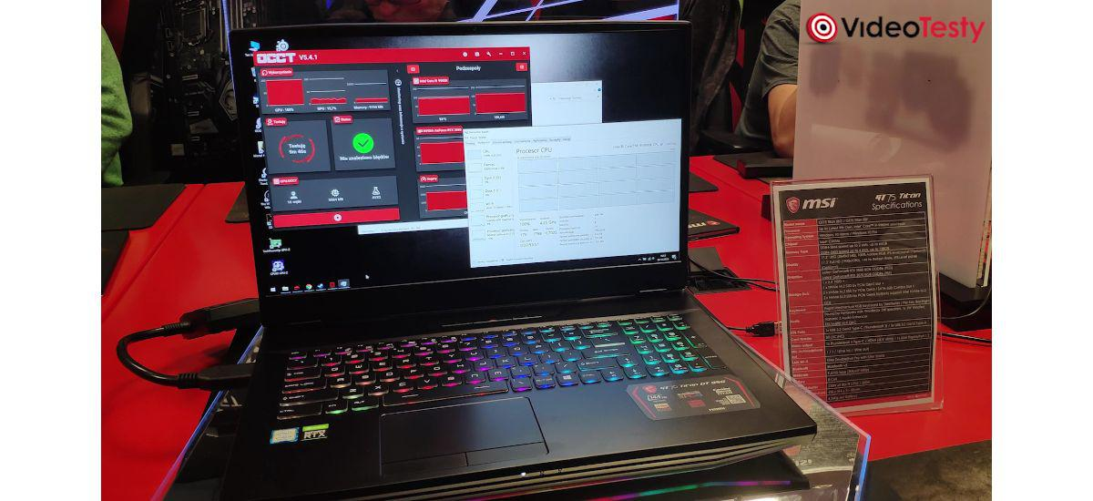 Taktowanie CPU w MSI GT76 Titan
