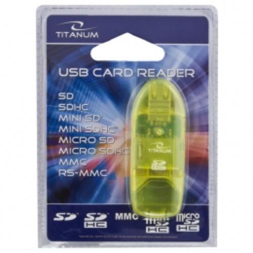 ESPERANZA TITANUM CZYTNIK KART SDHC / MicroSDHC / (SDHC PenDrive) TA101G USB 2.0 ZIELONY