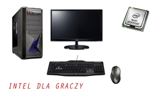 Wydajna Jednostka PC dla Gracza z Monitorem, Myszką i Klawiaturą!