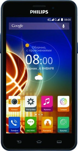 "Philips Xenium 8GB 5"" granatowy LTE"
