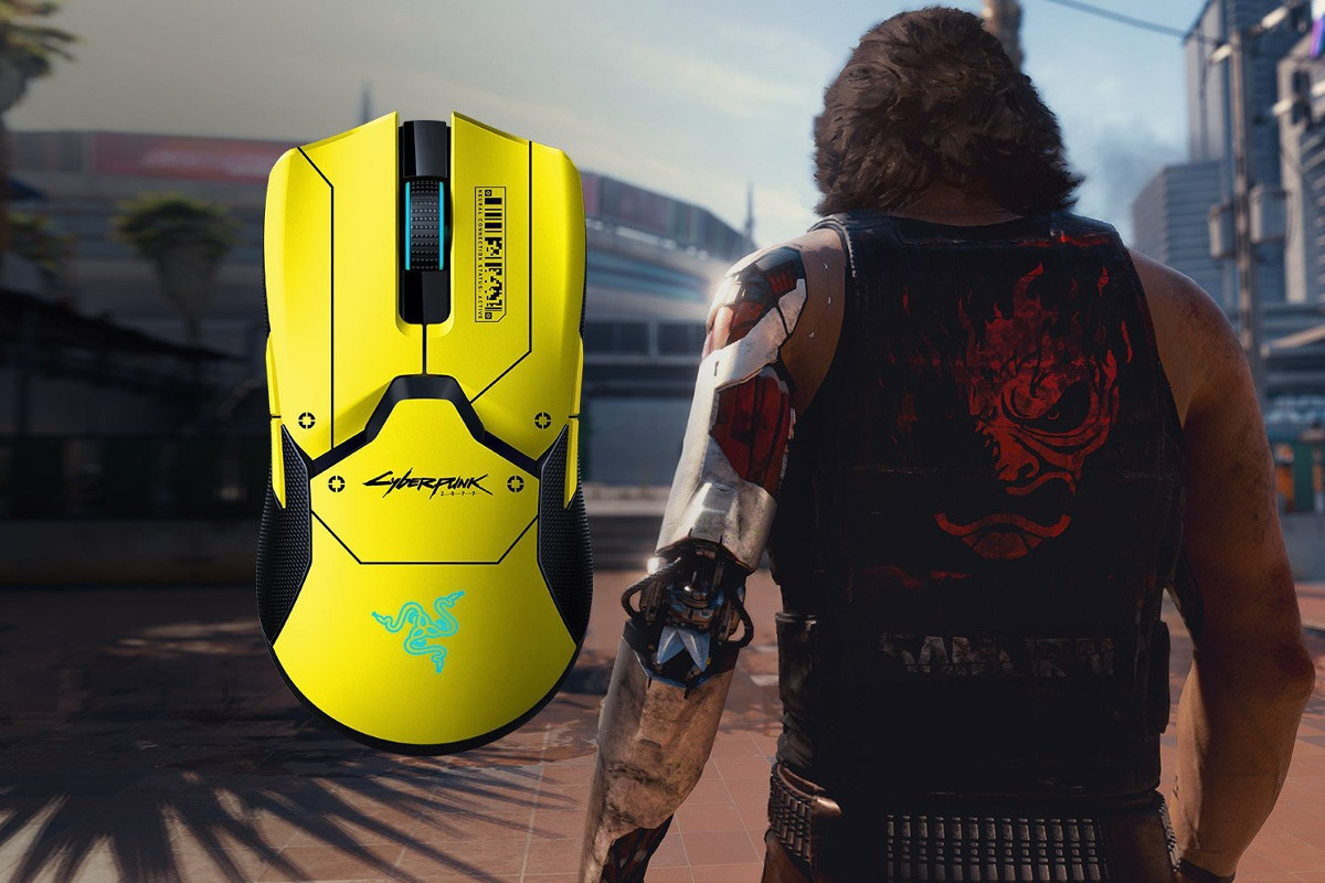 Razer Viper Ultimate w wersji Cyberpunk 2077