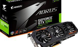 Gigabyte GeForce GTX 1060 Aorus, 6GB GDDR5 (192 Bit), DVI-D, DP, HDMI, BOX (GV-N1060AORUS-6GD)
