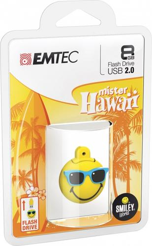 EMTEC Pendrive 8GB Smilley World Mr Hawaii Y SW108