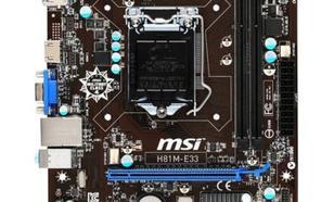 Płyta główna MSI H81M-E33 Sc LGA1150, H81M-E33, Intel H81M, 2xDDR3, VGA+HDMI, GbLAN, mATX - (H81M-E33)