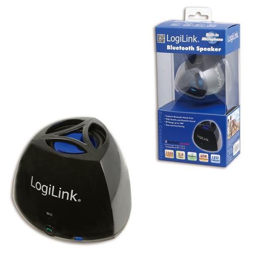 LogiLink Głośnik z bluetoothem oraz mikrofonem, czarny