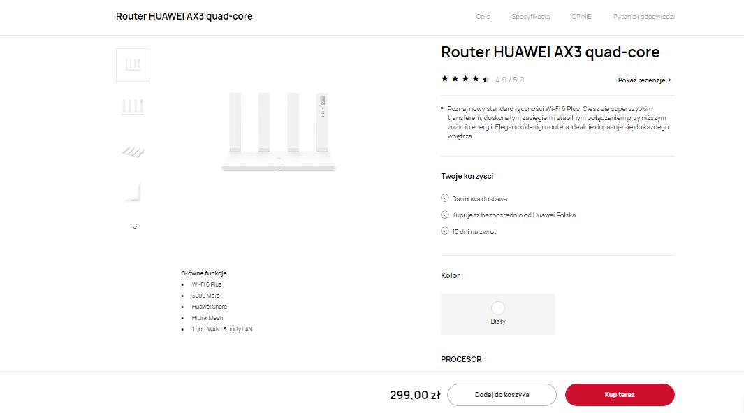 Gdzie kupić router Huawei AX3 - promocja