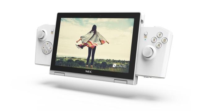 NEC Lavie MIni z Gamepadem nieco przypomina Nintendo Switch