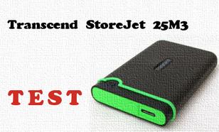 Transcend StoreJet 25M3 1TB test i recenzja zewnętrznego dysku USB 3