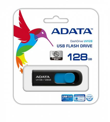 A-Data DashDrive UV128 128GB USB3.0 Black-Blue