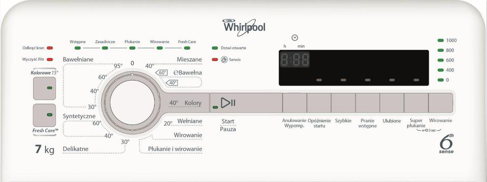 Whirlpool TDLR 70112 ( 1000 obr/min ; 7 kg ; 600 mm ; Klasa A+++ )