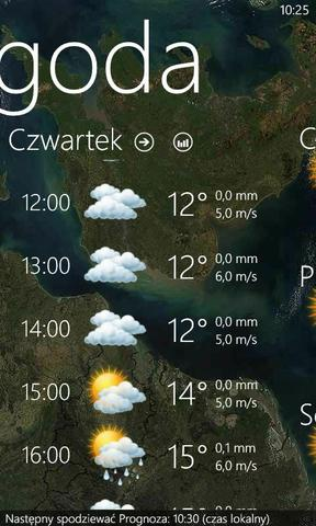 Windows Phone 8 pogoda 2