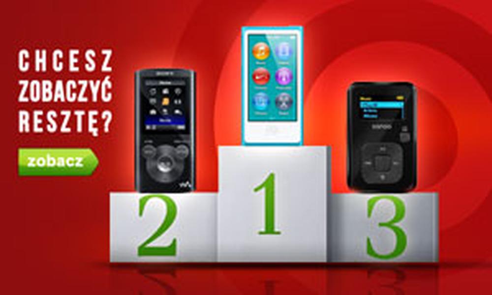 Topowe Odtwarzacze MP3 - Klasyfikacja Styczeń 2015