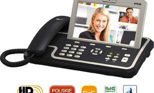 Yealink Wideotelefon VoIP VP530 - 4 konta SIP