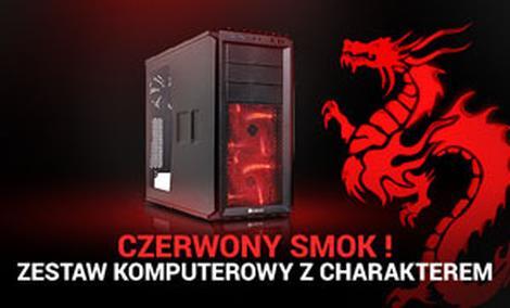 Czerwony Smok ! Zestaw Komputerowy Z Charakterem