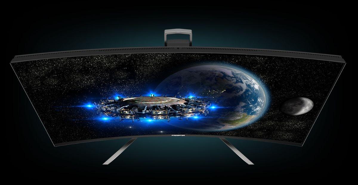 Grafika promująca monitor gamingowy Acer Predator X38