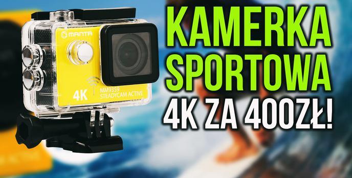 Kamera Sportowa 4K za 400zł?! Manta MM9359