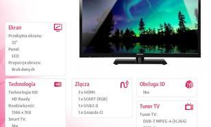 SENCOR 32'' SLE 3212M4 HD-READY,DVB-T/C,MPEG-4,TIMESHIFT