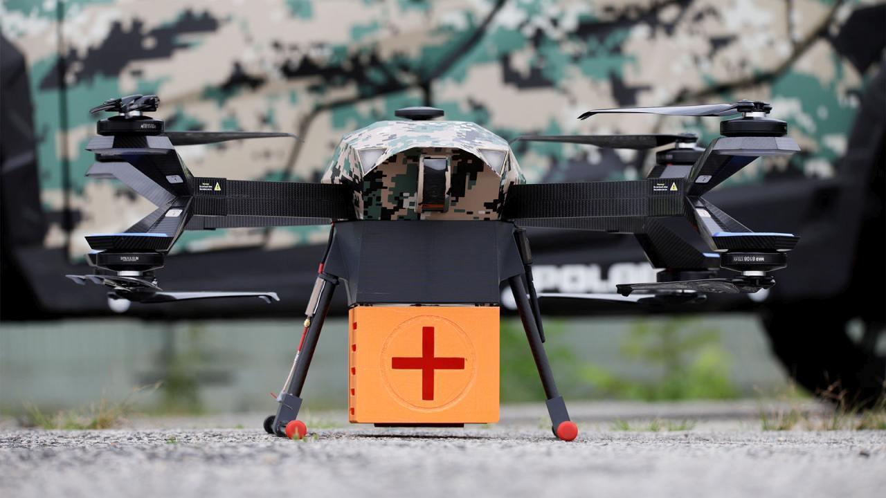 Dron Hermes dostarczy krew pomiędzy szpitalami w Warszawie