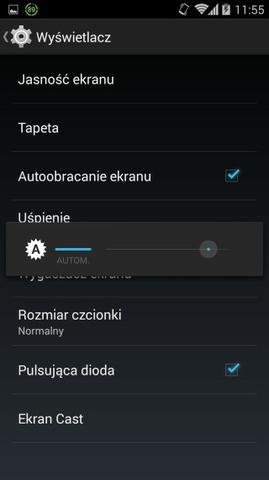 Jasnosc smartfon