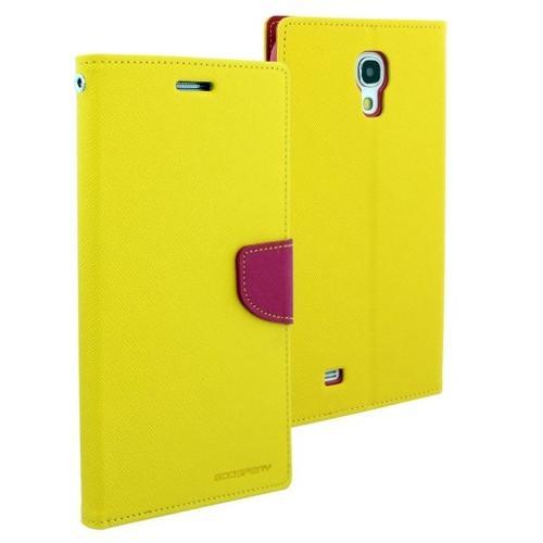 """WEL.COM Etui skórzane Fancy do Samsung Galaxy Tab 3 8"""" żółty - różowy"""