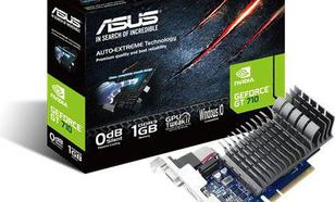 Asus GeForce GT710 1GB DDR3 (64 Bit) DVI, HDMI, D-Sub ,BOX (710-1-SL-BRK)