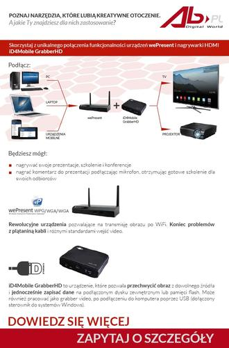 AWIND SYSTEM PREZENTACJI PO WiFi; WGA-310
