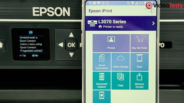 Wydruk za pomocą aplikacji mobilne Epson EcoTank ITS