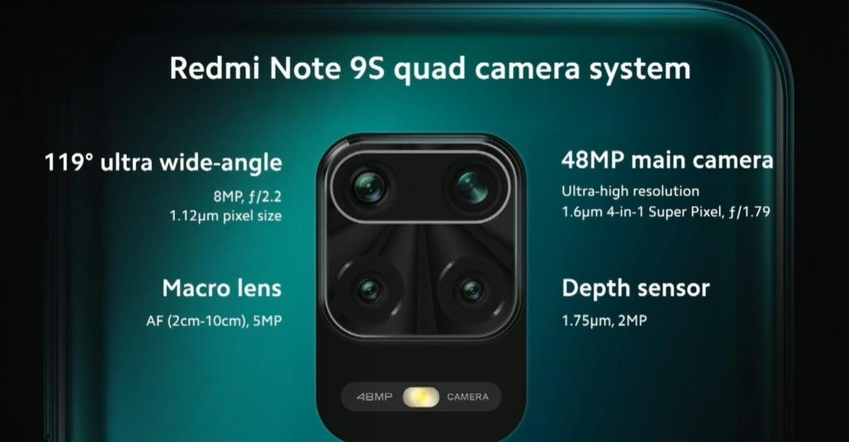 Aparaty Redmi Note 9S przypominają specyfiką te z Redmi Note 8T