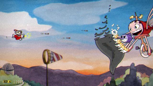 Cuphead - Misje z samolotem w roli głównej