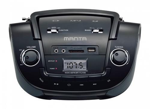 Manta Multimedia MM208 BOOMBOX MP3 Z RADIEM