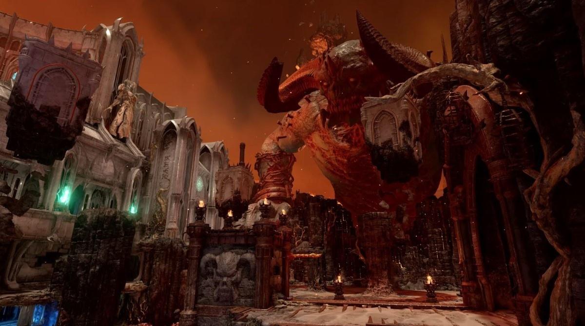 Grafika promocyjna Doom Eternal z demonem