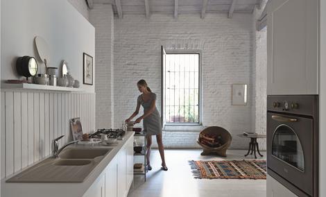 Stylizacje retro w kuchni Franke