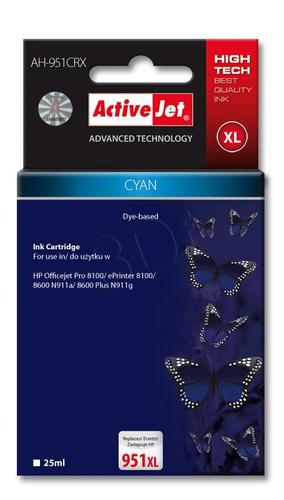 ActiveJet AH-951CRX tusz cyan do drukarki HP (zamiennik HP 951XL CN046AE) Premium
