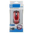 4World Mysz optyczna 'STYLE' USB 1200dpi czerwony metalik