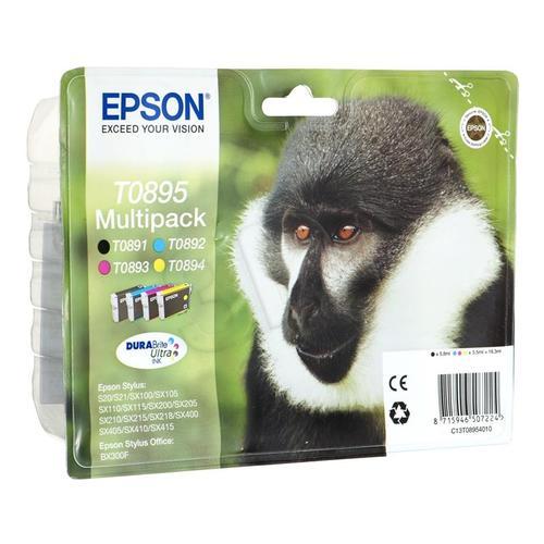EPSON Tusz T0895=C13T08954010, Zestaw CMYK, T0891+T0892+T0893+T0894