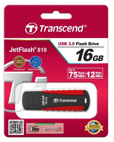 Transcend JETFLASH 810 16GB USB3.0 75/12 MB/s wstrząso/wodoodporny/silicone rubber