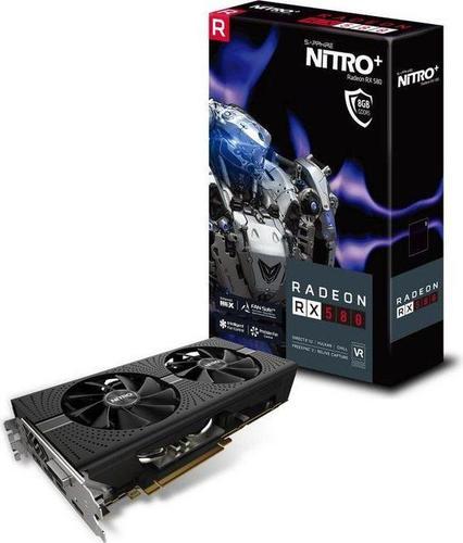 Sapphire RADEON RX 580 NITRO+, 8GB GDDR5 (256 Bit), DVI-D, 2x HDMI,