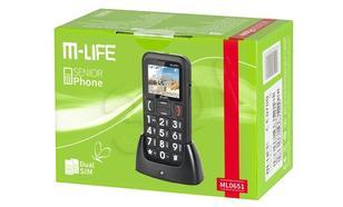 M-LIFE TELEFON DLA SENIORA DUAL SIM , STACJA DOKUJĄCA, KOLOROWY WYŚWIETLACZ