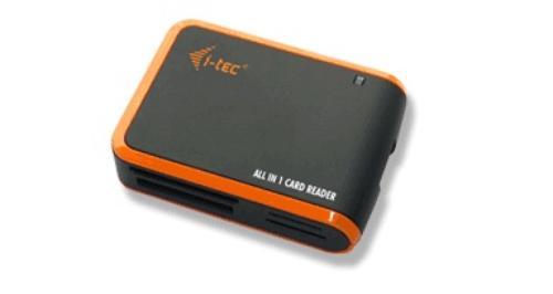 i-Tec USB ALL-IN-1 CZYT READER BLACK/ORANGE