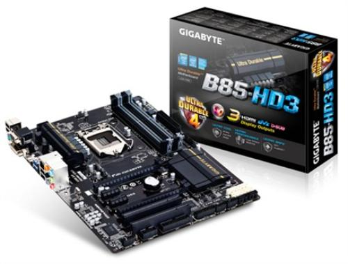 Gigabyte GA-B85-HD3 s1150 B85 4DDR3 USB3/GLAN ATX