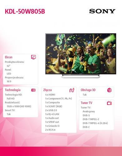 Sony 42'' LED KDL-42W805BBAE2