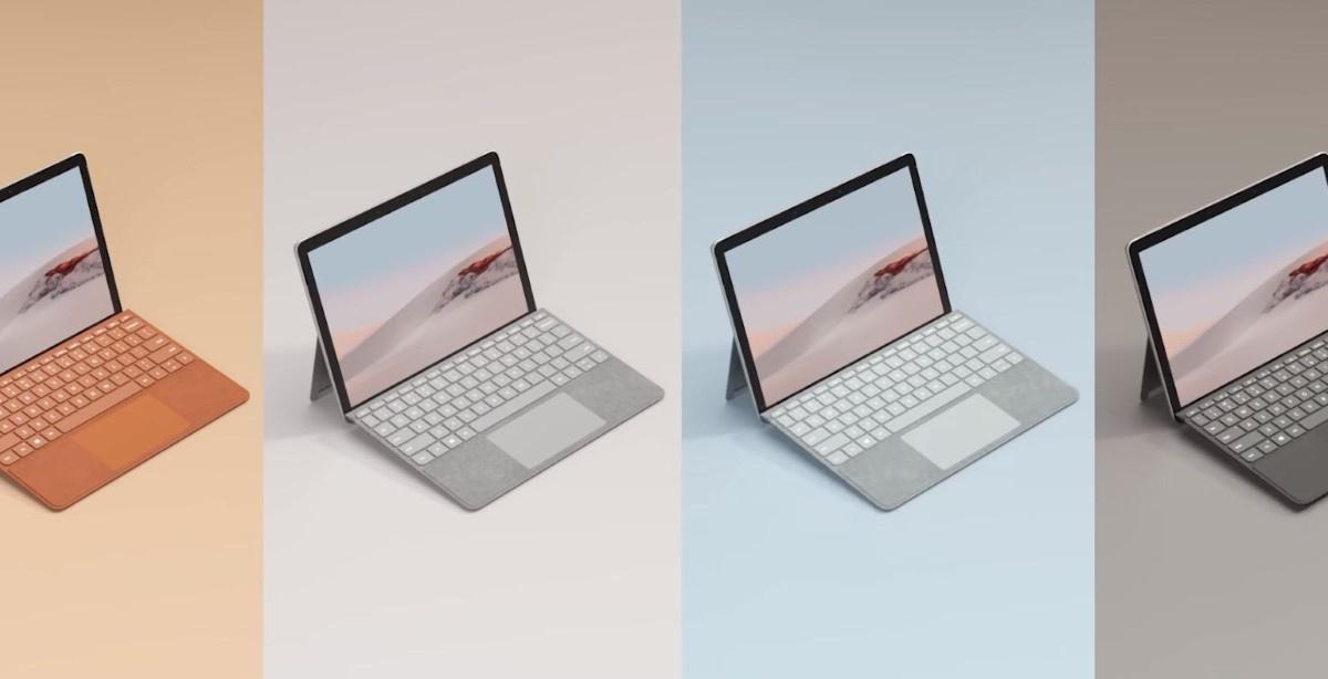 Różne warianty kolorystyczne Microsoft Surface Go 2