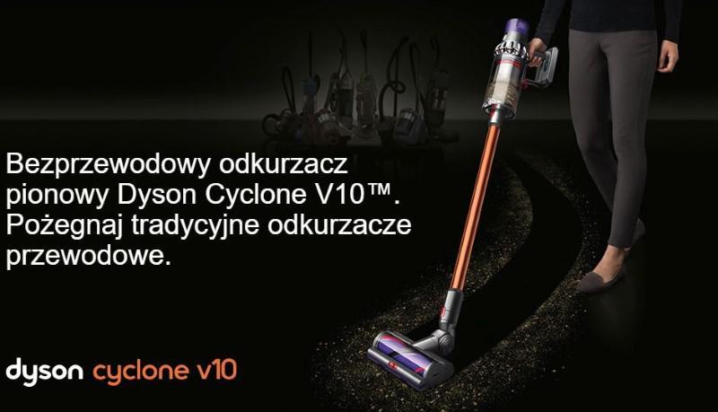 Dyson Cyclone V10 poradzi sobie z każdą powierzchnią