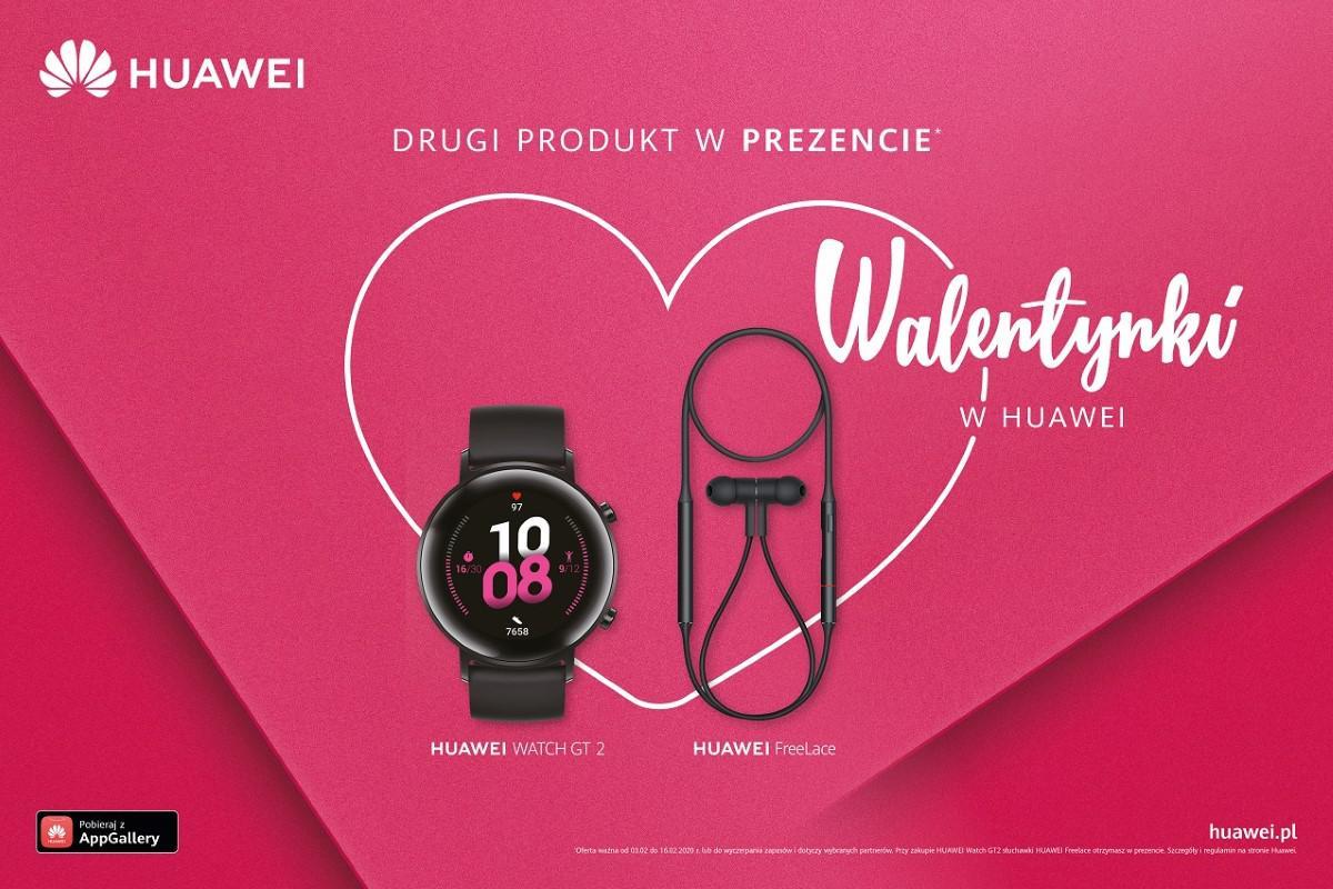 Huawei Freelace na walentynki - grafika promocyjna